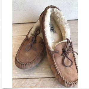 Ugg Moccasins Slipper Shoes Sheepskin Fur Lined